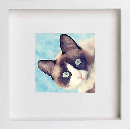 Watercolour Pets Siamese Cat 0280