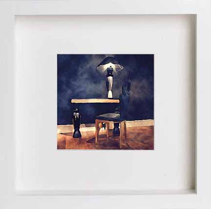 Watercolour Still Life Table and Chairs 0290