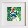 Watercolour Glasgow Celtic Jimmy Johnstone Legend 0297