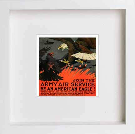 Vintage Poster Join The Army Air Service Be An American Eagle - [Lumartos]