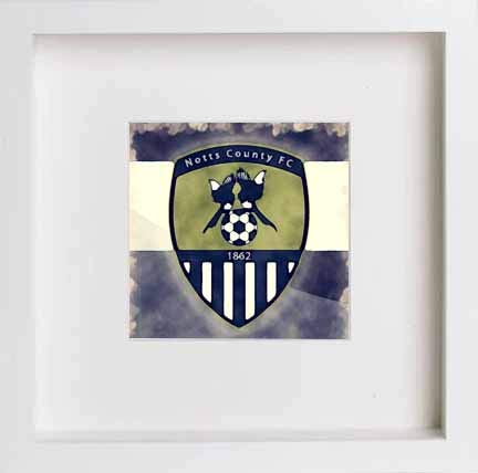 Vintage Notts County Football Badge Emblem - LUMARTOS