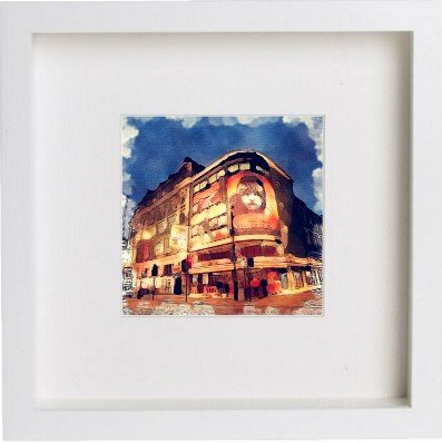 Watercolour Print of London Les Miså©rables Framed Art Print 104