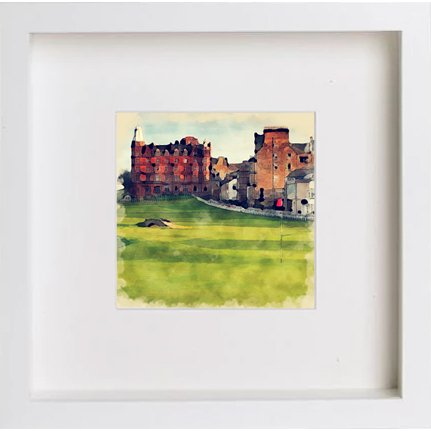 Watercolour Print of Golf St Andrews 17th 219