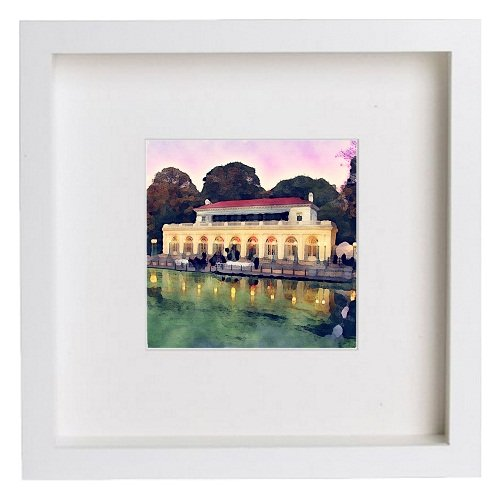 Watercolour Print of New York City Collection Prospect Park Boathouse 151