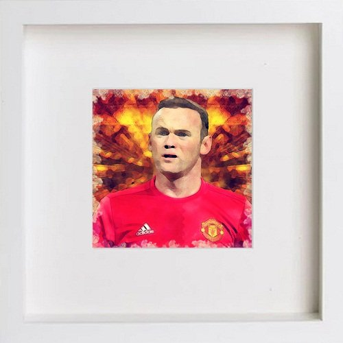 Watercolour Print of Manchester United Legends - Wayne Rooney 138 - [Lumartos]