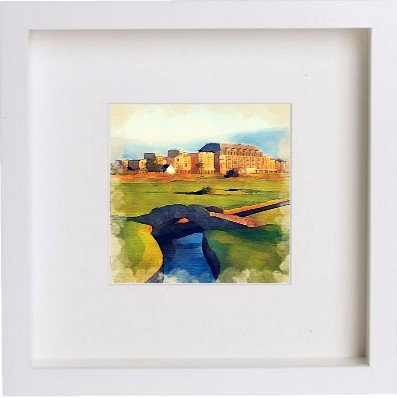 Watercolour Print of Golf St Andrews Old Course Hotel 77