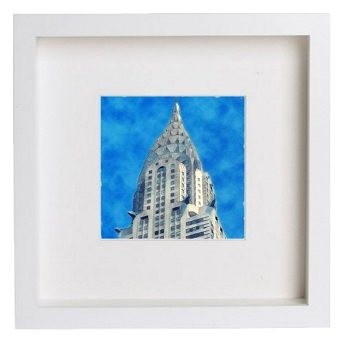Watercolour Print of New York City Collection The Chrysler Building 155 - [Lumartos]