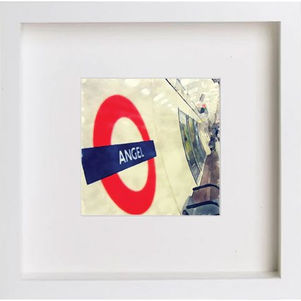 Watercolour Print of London Underground Angels 221