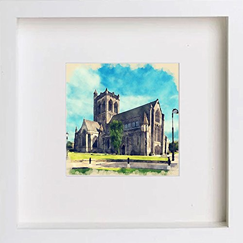 Watercolour Print of Paisley, Scotland Paisley Abbey from North West 162 - [Lumartos]