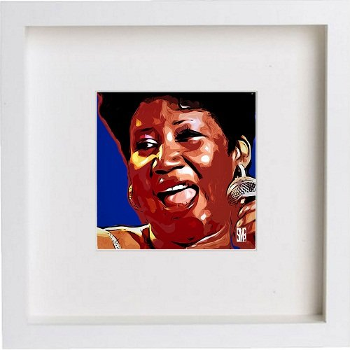 Watercolour Print of Aretha Franklin 0003