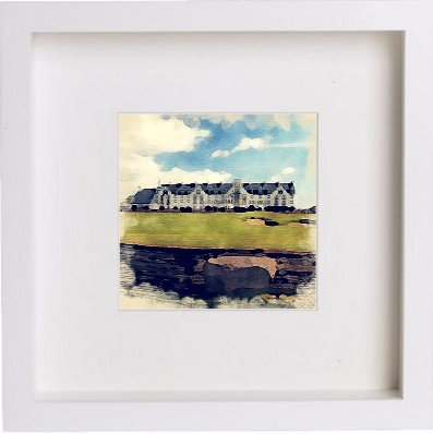 Watercolour Print of Golf The Carnoustie Golf Course 80 - [Lumartos]