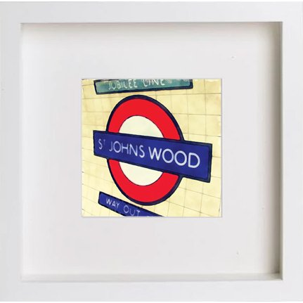 Watercolour Print of London Underground St Johns Wood 228