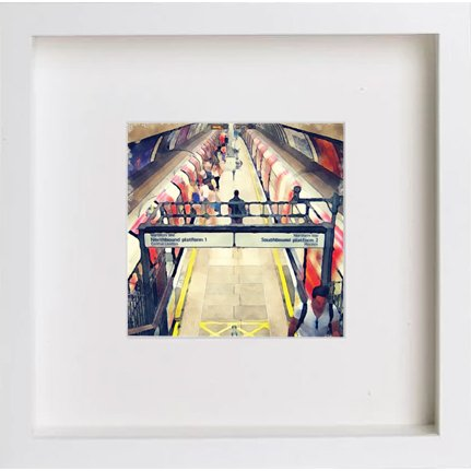 Watercolour Print of London Underground Clapham North 223