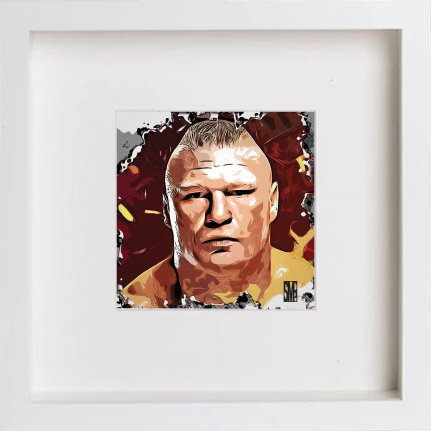 Watercolour Print of Wwe Raw Brock Lesnar 231