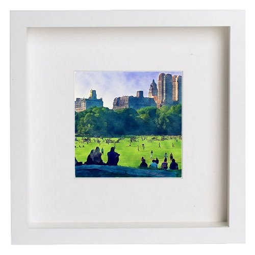Watercolour Print of New York City Collection Central Park 148