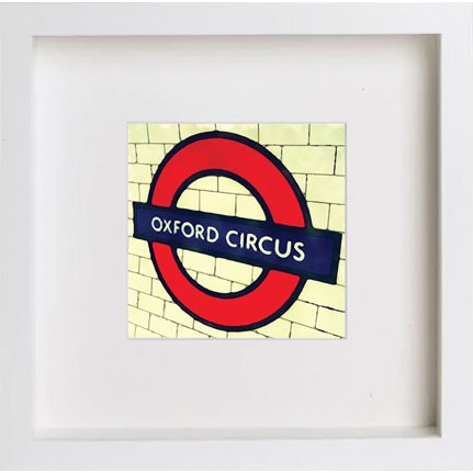 Watercolour Print of London Underground Oxford Circus 226