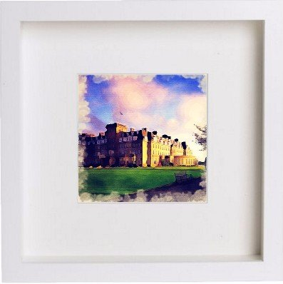 Watercolour Print of Golf The Gleneagles Hotel 82