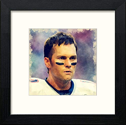 L Lumartos Tom Brady Contemporary Home Decor Wall Art Watercolour Print - [Lumartos]