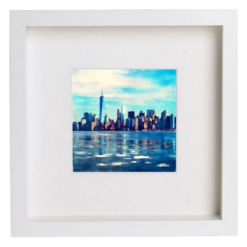 Watercolour Print of Manhattan New York City Collection The New York City skyline 141