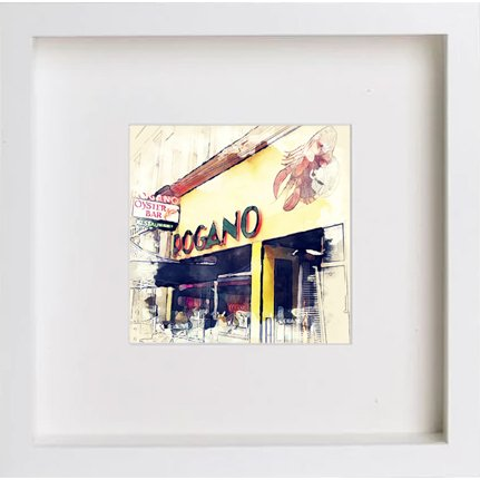 Watercolour Print of Glasgow Rogano 0218