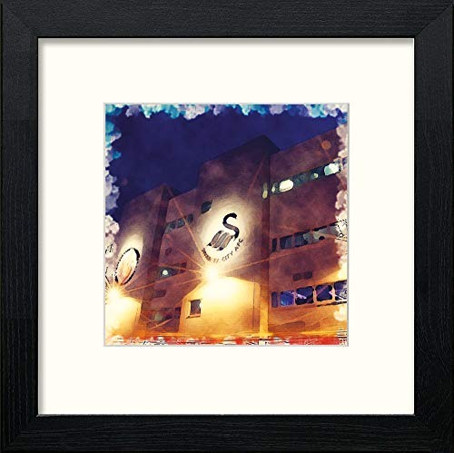 L Lumartos Swansea Stadium Contemporary Home Decor Wall Art Watercolour Print - [Lumartos]