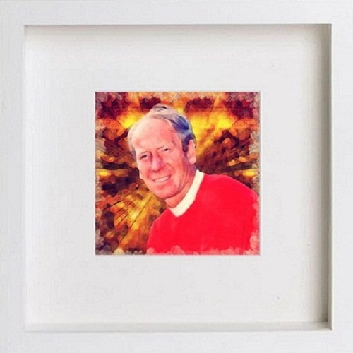 Watercolour Print of Manchester United Legends - Bobby Charlton 129