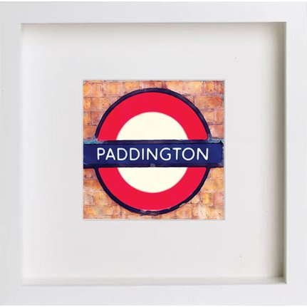 Watercolour Print of London Underground Paddington 227 - [Lumartos]