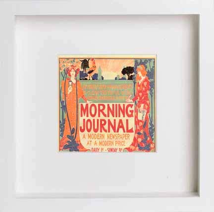 Vintage Poster Morning Journal A Modern Newspaper At A Modern Price - [Lumartos]