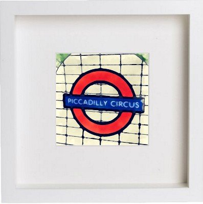 Watercolour Print of London The London Underground Sign 2 113
