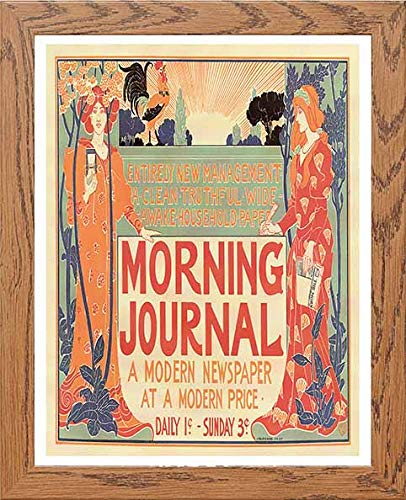 Vintage Poster Morning Journal A Modern Newspaper At A Modern Price - LUMARTOS