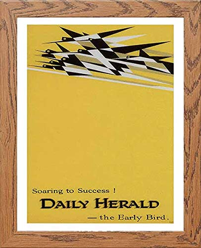Vintage Poster Soaring To Success Daily Herald The Early Bird Advertising - LUMARTOS