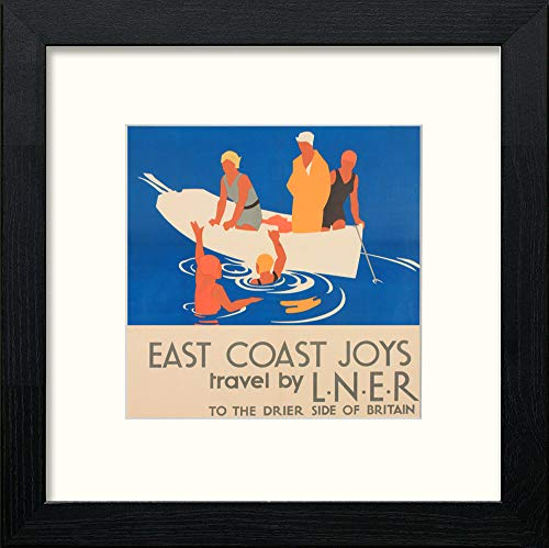 Vintage LNER East Coast Joys Poster Swimming - LUMARTOS