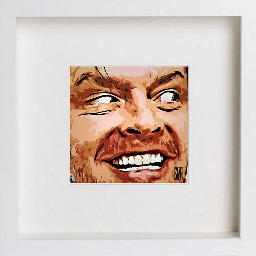 Watercolour Print of Jack Nicholson 89