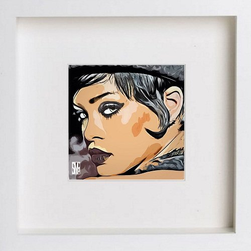 Watercolour Print of Rihanna 0181 174 - [Lumartos]