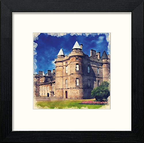 L Lumartos Edinburgh Holyrood House Contemporary Home Decor Wall Art Watercolour Print - [Lumartos]