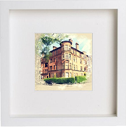 Glasgow Tenement Framed Art Artwork 0063 - [Lumartos]