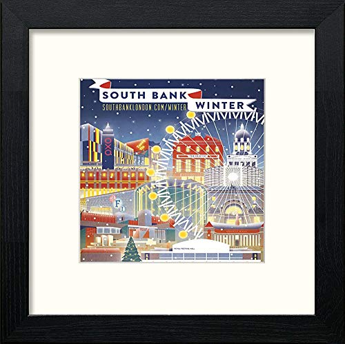 Lumartos, Vintage Southbank Poster Contemporary Home Decor Wall Art Watercolour Print - [Lumartos]