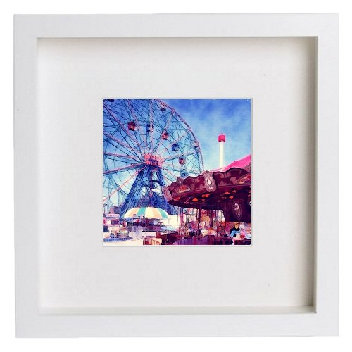 Watercolour Print of New York City Collection Coney Island 150
