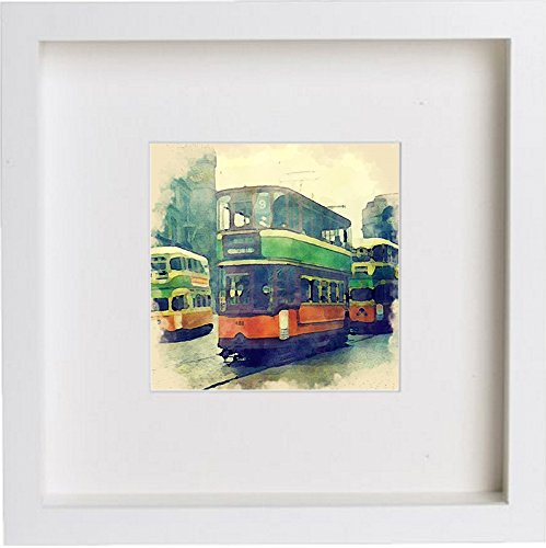 Glasgow Coronation Tram Watercolour Print Home Office Gift Birthday Anniversary 0045