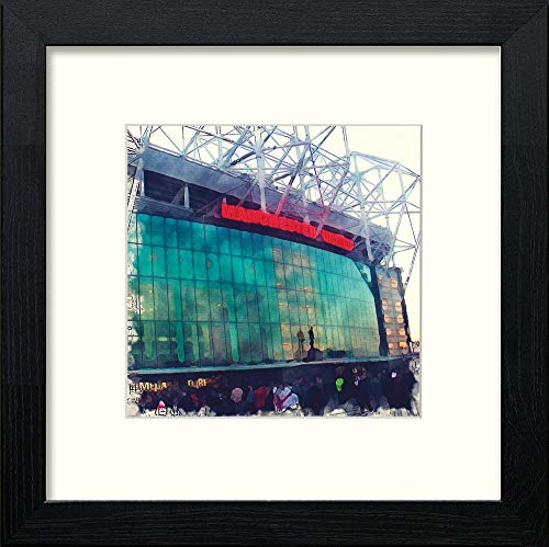 L Lumartos Manchester United FC Stadium Contemporary Home Decor Wall Art Watercolour Print - [Lumartos]