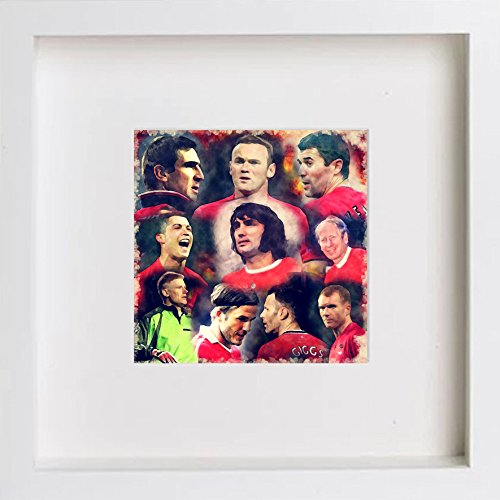 Watercolour Print of Manchester United Legends - Collage 130