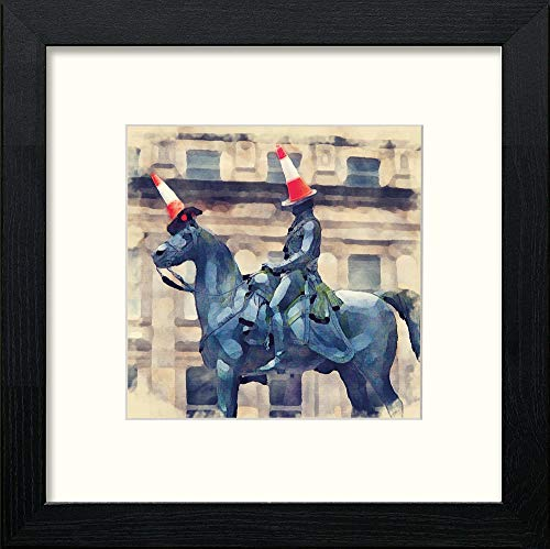 L Lumartos Glasgow Duke of Wellington Contemporary Home Decor Wall Art Watercolour Print - [Lumartos]
