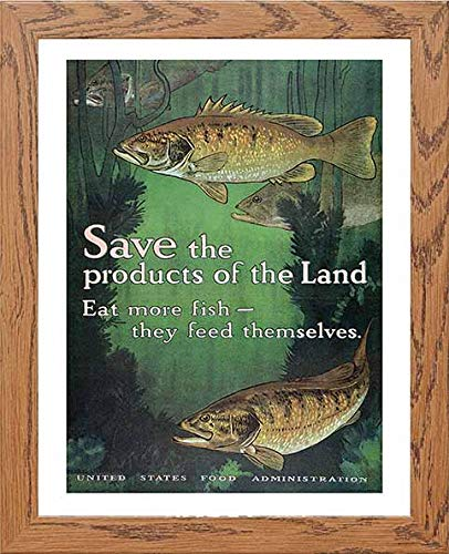 Vintage Poster Save The Products Of The Land Eat More Fish - [Lumartos]