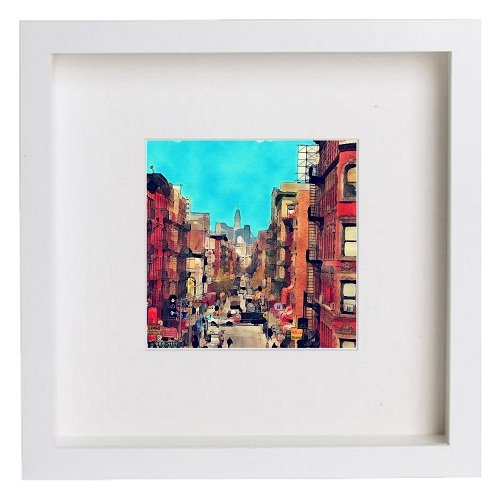 Watercolour Print of New York City Collection Chinatown 149 - [Lumartos]