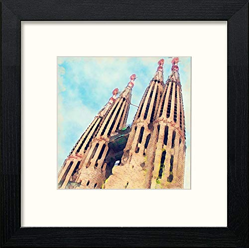 L Lumartos Barcelona Sagrada Familia Contemporary Home Decor Wall Art Watercolour Print - [Lumartos]