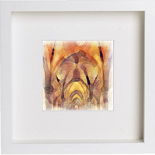 Glasgow University Cloisters Framed Art Artwork 0066
