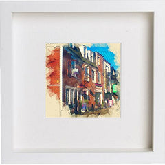 Glasgow Ashton Lane Watercolour Print 0041