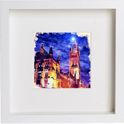 Glasgow University at Night Art Artwork 0065