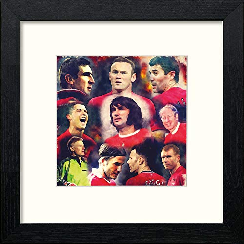 L Lumartos Manchester United FCLegends Collage Contemporary Home Decor Wall Art Watercolour Print - [Lumartos]