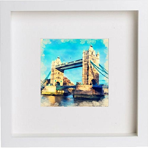 Watercolour Print of London Tower Bridge Box 120 - [Lumartos]